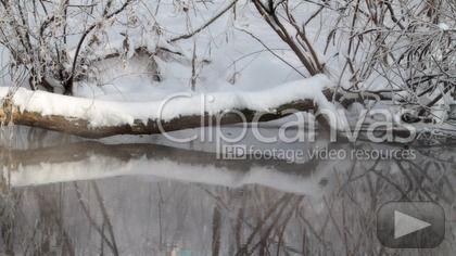 Check out this Cold River Season HD Stock Footage Clip. Static shot made at day. Medium shot. 2011-02-06.