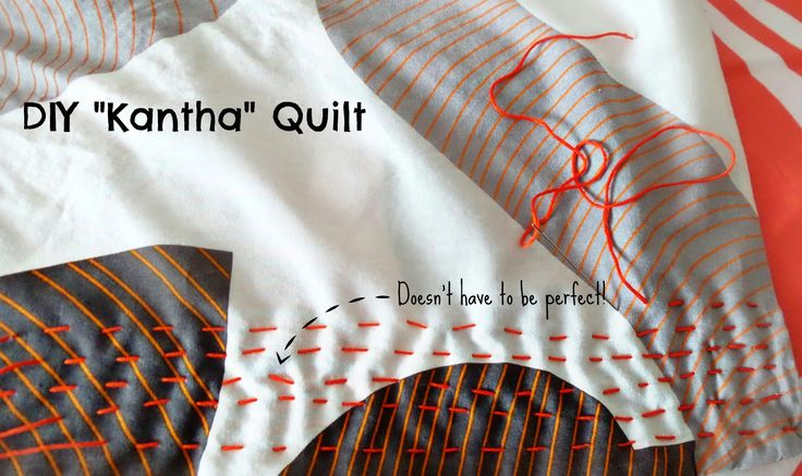 Make you own Kantha style quilt, with a tutorial for stitch, and also 7 decorative stitches