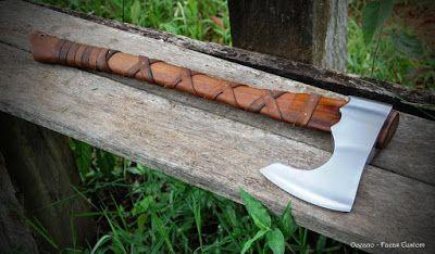 Oceano - Facas artesanais: Machado Viking