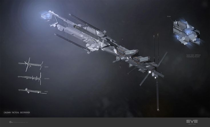 ArtStation - Jackdaw, Caldari tactical destroyer, Pavel Savchuk