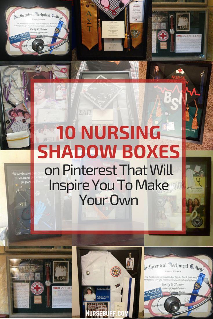 10 Nursing Shadow Boxes on Pinterest That Will Inspire You To Make Your Own #Nursebuff #Nurse #Shadowboxes