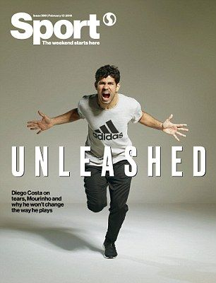 The front cover of Sport Magazine, which features an interview with Chelsea…