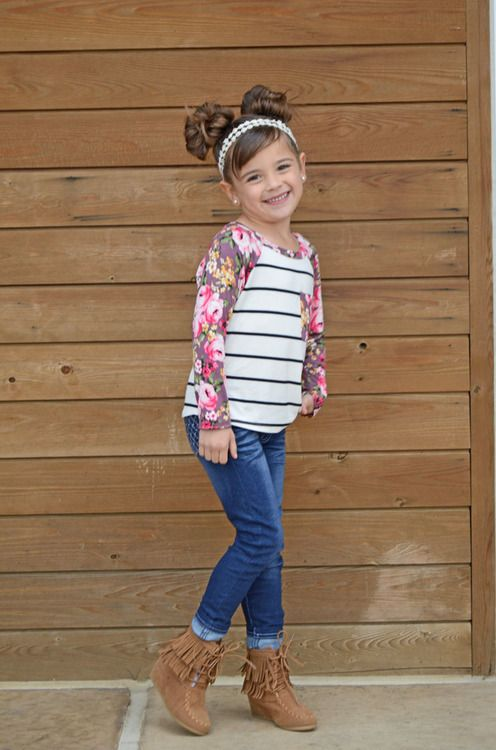 Top, Floral Top, Kids Fashion, Striped Top, Online Shopping, Online Boutique, Ryleigh Rue, Kids Boutique