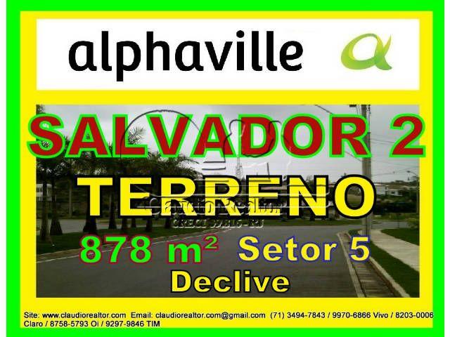 Terreno a venda, Alphaville Salvador 2, 878 m², Setor 5