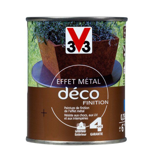 Peinture effet m tal d co finition m tal rouill 0 25l castorama packagin - Peinture effet metal ...