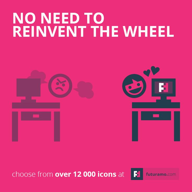 No need to reinvent the wheel, when you have Futuramo. https://futuramo.com/ #icons #design #futuramo #branding #brand #futuramo #futuramoicons