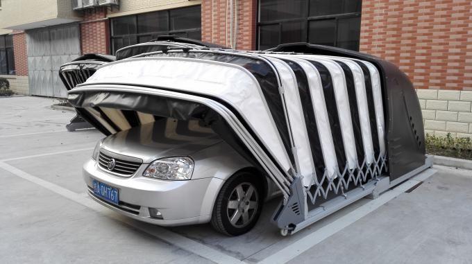 Solar Powered Retractable Car Garage Portable Garage Carport
