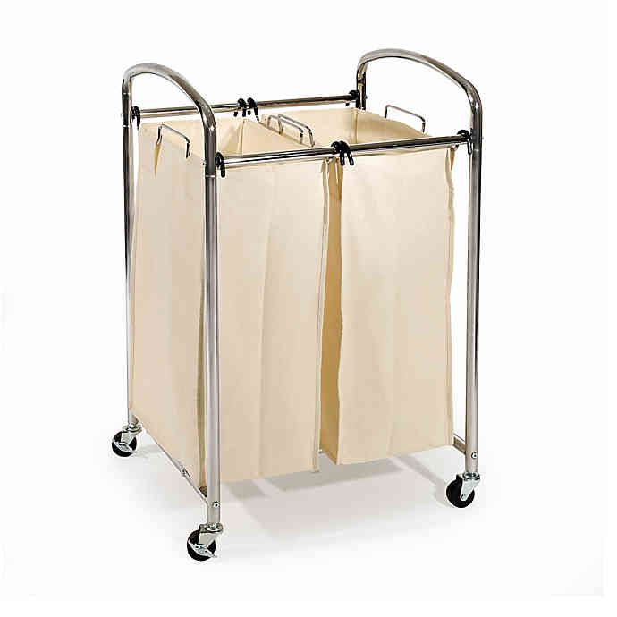 Seville Classics 2 Bag Laundry Sorter Hamper Cart In 2020