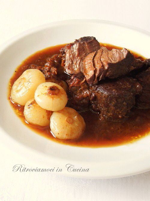 Beef Slow cooked in Sicilian wine for melt in mouth meat