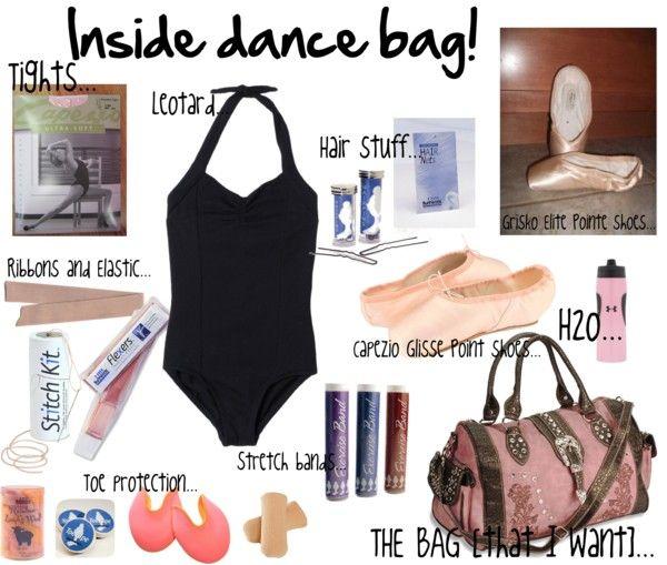 """Inside dance bag!"" by ballerinagal16 on Polyvore"