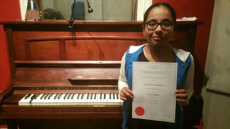 Natalia Jelica Maldonado aced her AMEB piano exam and got honours. Congratulations.
