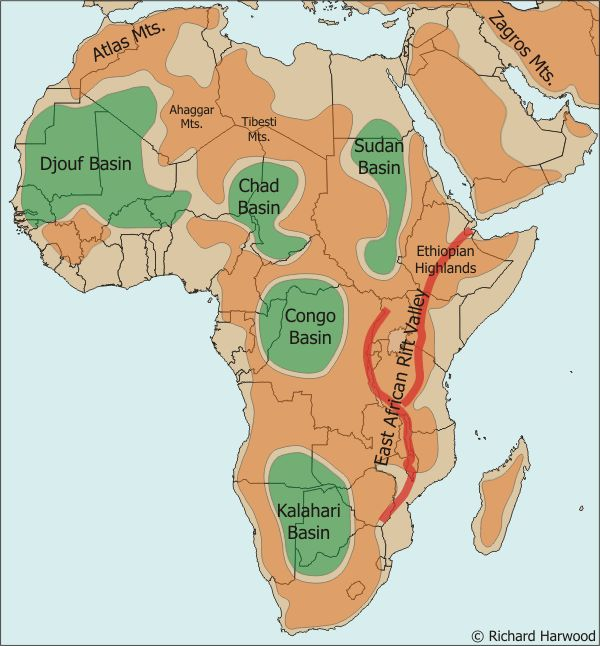 East African Rift Valley | Rocks&Minerals&Geology | Africa map ... on