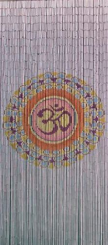 Bamboo Beaded Door Curtain - Mandala (also Room Divider or Wall Art)