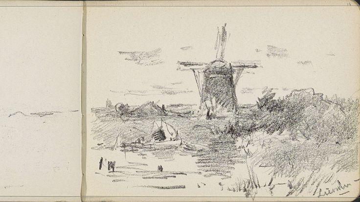 Molen De Zwaan te Lienden, Willem Cornelis Rip, 1905