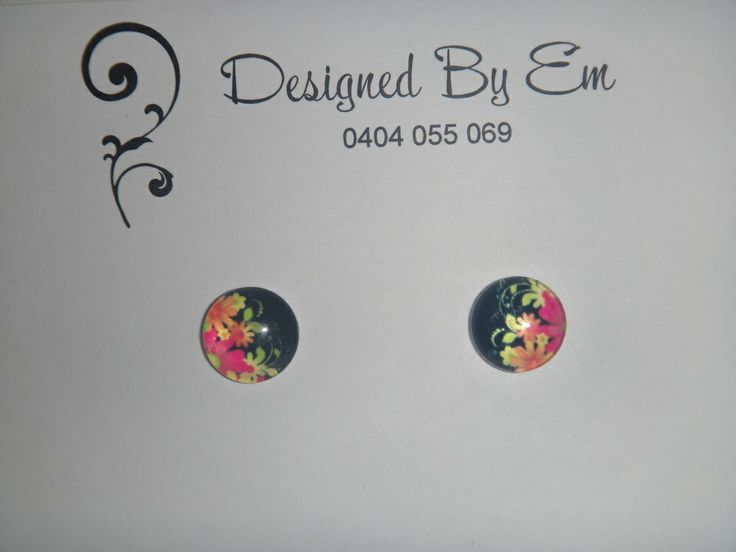 Designed by Em — Glass Cabachon Earrings