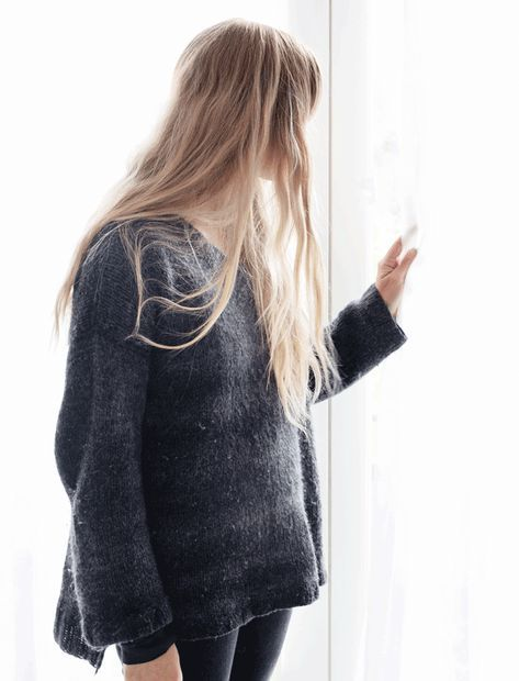 88bae61d Strik en blød og lun trøje med v-hals | strikkeopskrifter | Knitting ...