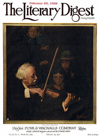 The Old Master by Norman Rockwell from the February 25, 1922 issue of The Literary Digest