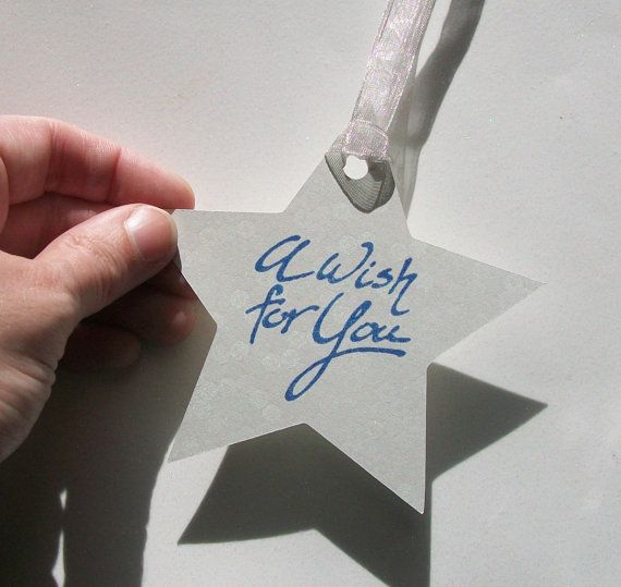 Wedding Wishing Tree Tags  A Wishing Star set of 50 by paperpixie, $25.00