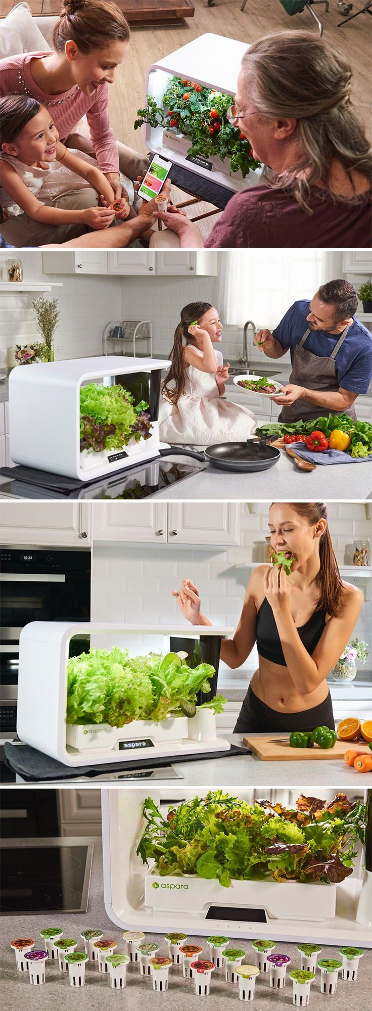 Aspara Is A Smart Indoor Garden That Encourages The Growth 400 x 300