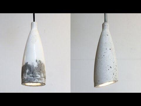 ▶ Homemade Modern, Episode 9 -- DIY concrete pendant lamp - YouTube Looks so easy . LOVE