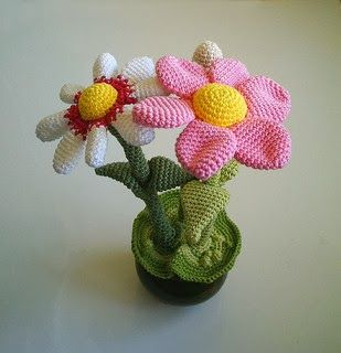Free Crochet Flower Pot Pattern