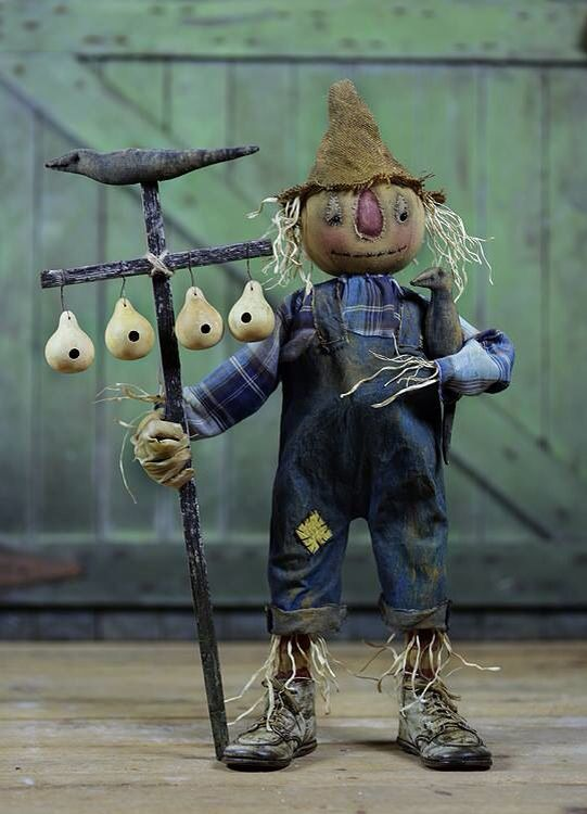 Sweet Meadows Farm scarecrow. Love him!