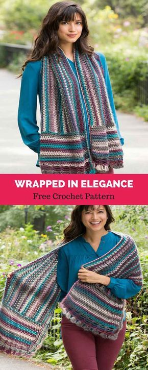 Wrapped in Elegance [ FREE CROCHET PATTERN | shawls,ponchos,scarfs ...