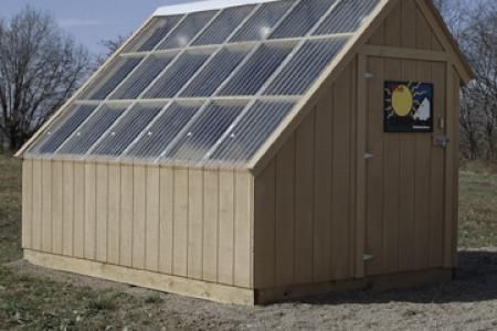 We constructed this nifty 8x8x12' passive-solar kiln. And boy does it work, not…