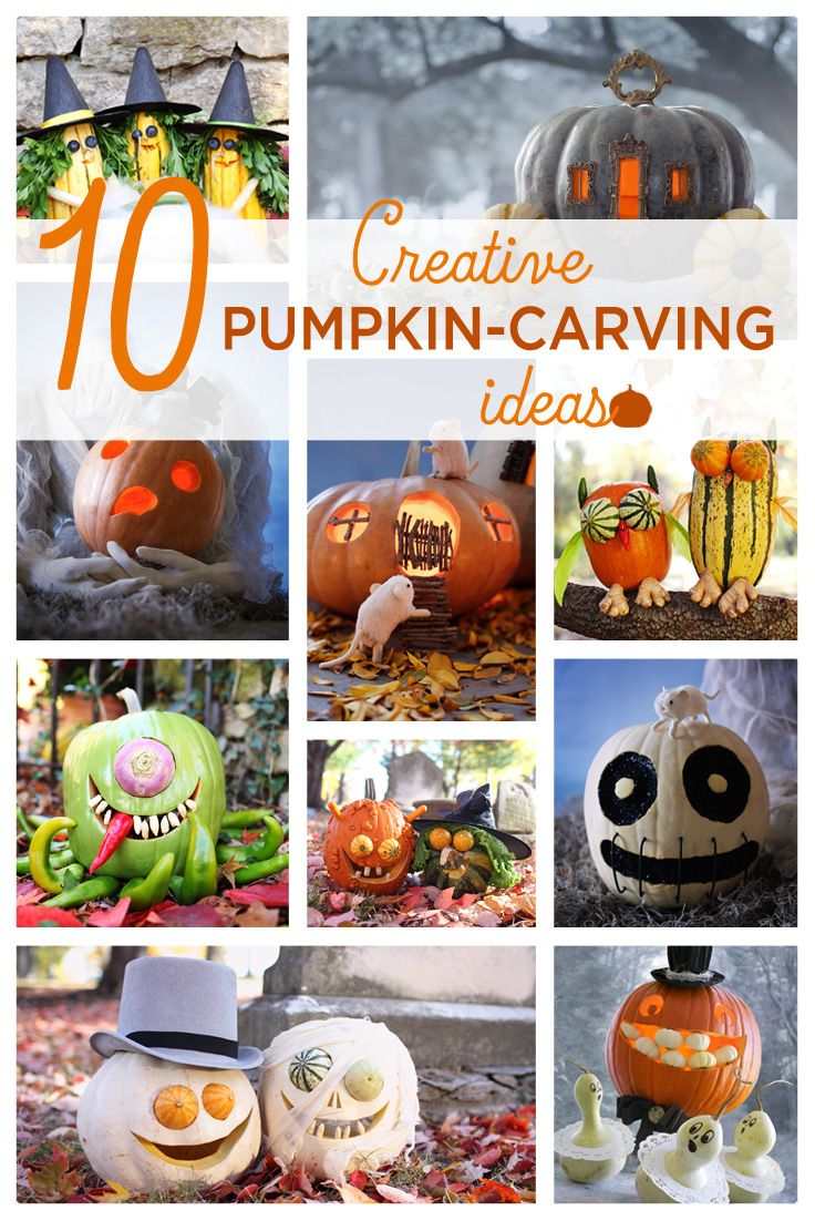 10 Creative Pumpkin-Carving Ideas | Follow our step-by-step instructions to carve the coolest jack-o'-lantern on the block! #Hallmark #HallmarkIdeas