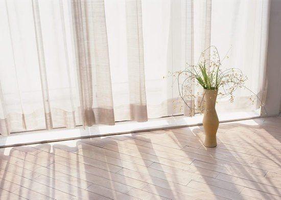Как отстирать белые шторы