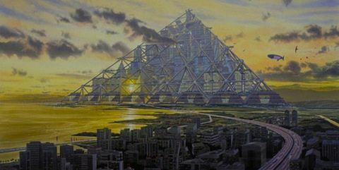 A Shimizu Mega-City Pyramid egy elképzelt szerkezetet, amely ül végig a Tokiói-öbölben Japánban. Jelenleg nincs elég könnyűszerkezetes építési anyagok meglétét építeni, de ha egyszer összeállították, a piramis lennének elhelyezve egymillió ember. A város a városban, ami tartalmazza a saját árutovábbítási rendszer és a felhőkarcolók (24 közülük legalább). Az elkészült szerkezet lenne 14-szer magasabb, mint a Nagy Piramis a Giza.