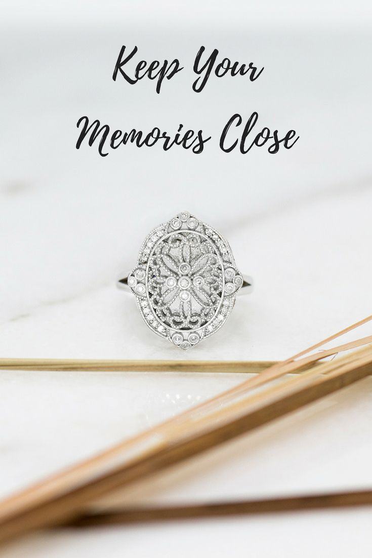 Georgie Locket Ring Sterling Silver Diamond Rings Silver Lockets