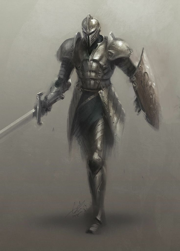 Knight in silver armor