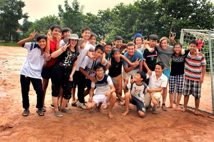 Champion league with local friends #VietnamSchoolTours #football #children