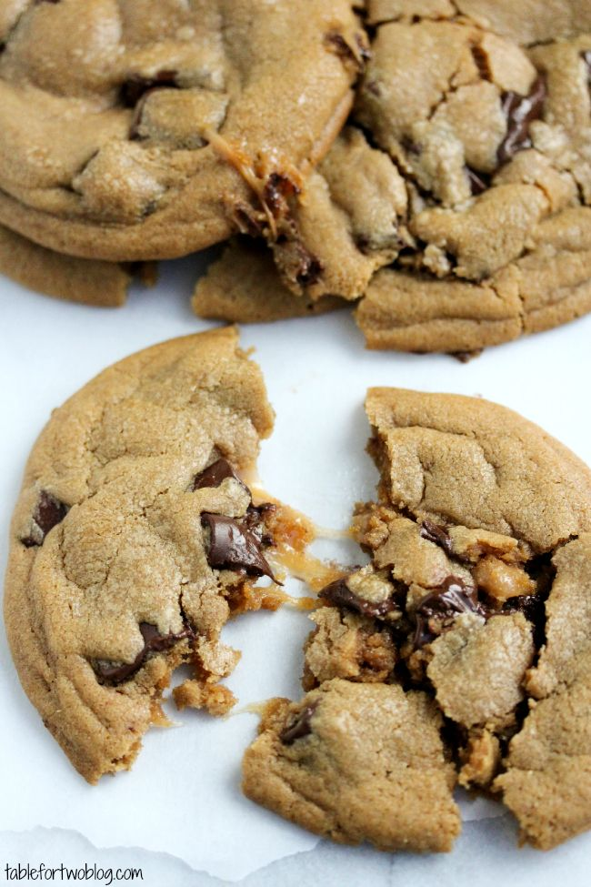 Chocolate chunk cookies, Caramel and Cookies on Pinterest
