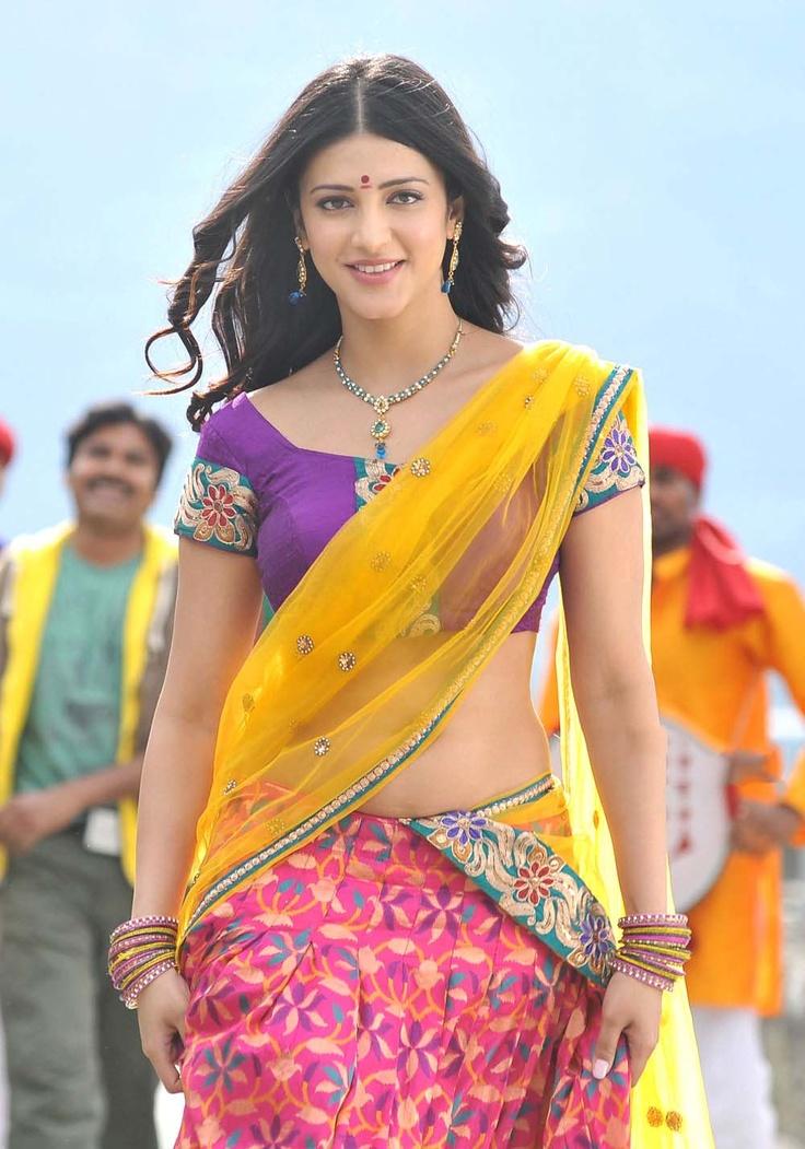 Shruti Hassan looks damn hot in half saree | Desi Actress ...
