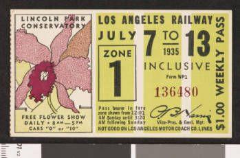 Los Angeles Railway weekly pass, 1935-07-07 :: LA as Subject