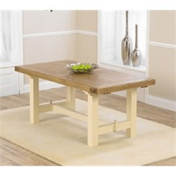 Marino Solid Oak and Cream Extending Dining Table Extends to 270cm (£547)