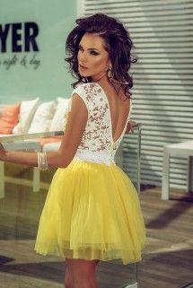 Rochie Miranda Galbena
