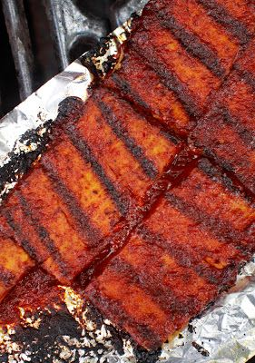 "The Chubby Vegetarian: Memphis-Style Dry-Rub BBQ Tofu.  former meat eaters know about something called ""BARK""."