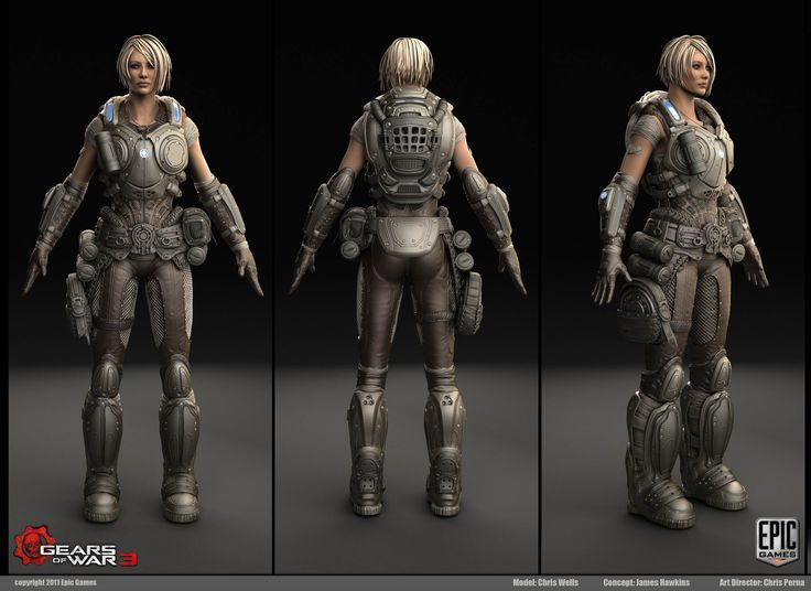 Character Design Gears Of War : Images about female character on pinterest