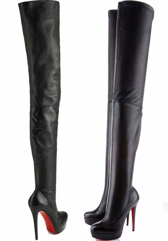 "lowest price 86955 b9120 Christian Louboutin ""Gazolina"" Over-the-Knee Boots ..."