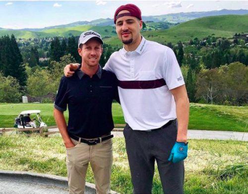 Shoutout to our favorite active NBA star #KlayThompson looking sharp in #GavinPolo #TourLogo |