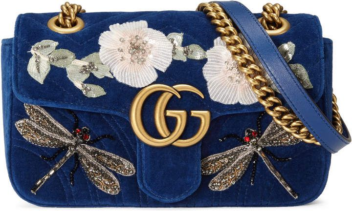 3ce77980b GG Marmont embroidered velvet mini bag#Gucci #ShopStyle #MyShopStyle click  link to see more information