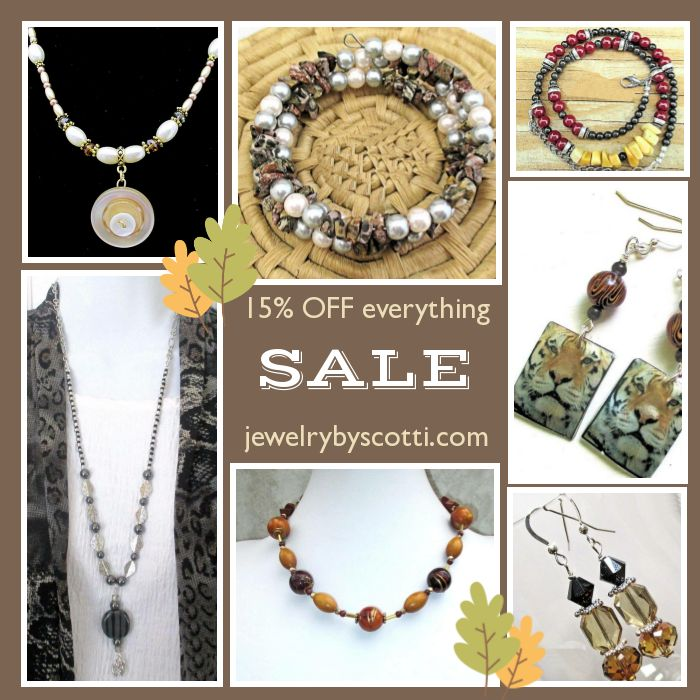It's time to go SALE-ing! Shop Jewelry by Scotti now for 15% off EVERYTHING: https://small.bz/AAojmGk #handmadejewelry #sale #jewelryonsale #jewelrysale #holidaysavings #holidaydeals https://www.etsy.com/shop/JewelryByScotti