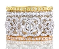 Lovely Lace - De Beers Stackable Rings
