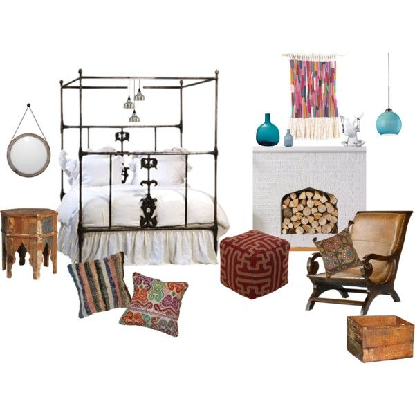 """Bohemian Bedroom"" by smartfurniture on Polyvore"