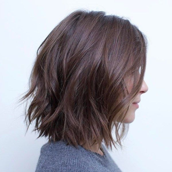 Messy Bob With Jagged Ends Choppy Bob Hairstyles Hair Styles Bob Hairstyles