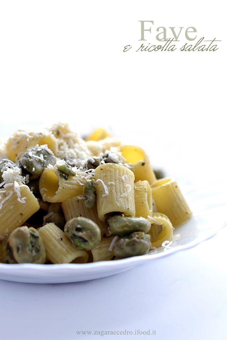 Pasta con Fave e Ricotta Salata http://www.zagaraecedro.ifood.it/2016/05/pasta-con-fave-e-ricotta-salata.html
