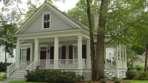 Gabled cottage with wrap around porch love cottage for Rectangular house plans wrap around porch